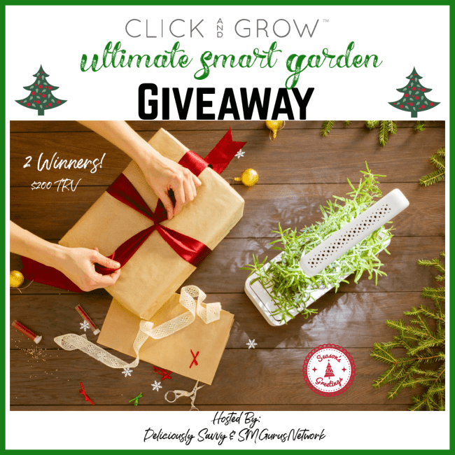 Click and Grow Ultimate Smart Garden Giveaway ~ Ends 12/31 @ClickandGrow @DeliciouslySavv #MySillyLittleGang