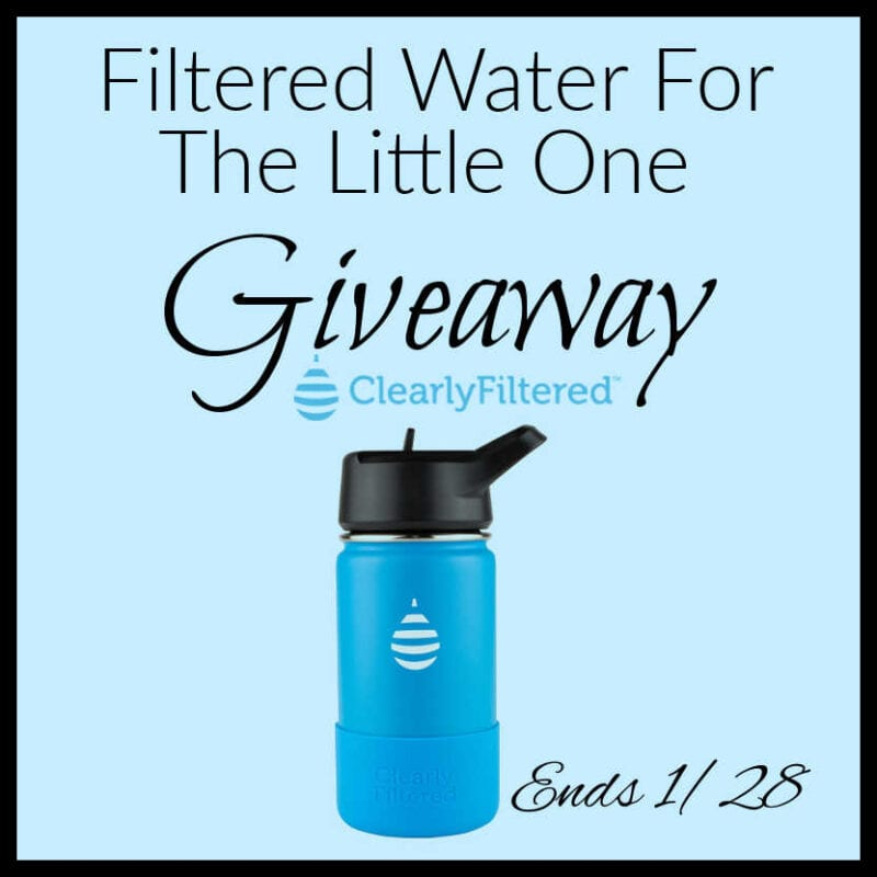 Filtered Water For The Little One Giveaway ~ Ends 1/28 @clearlyfiltered @las930 #MySillyLittleGang