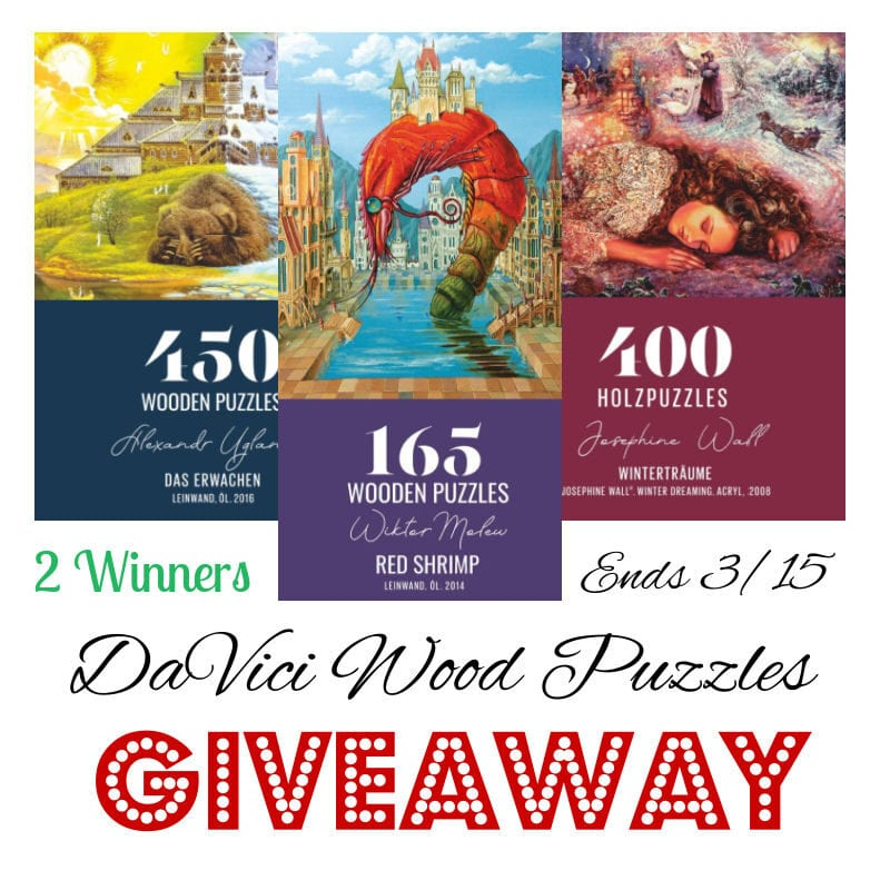 DaVici Wood Puzzles Giveaway ~ Ends 3/15 @las930 #MySillyLittleGang
