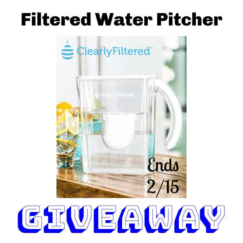 Filtered Water Pitcher Giveaway ~ Ends 2/15 @clearlyfiltered @las930 #MySillyLittleGang