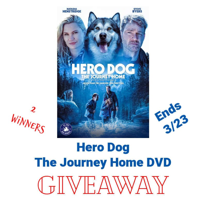 Hero Dog The Journey Home DVD Giveaway ~ Ends 3/23 #MySillyLittleGang