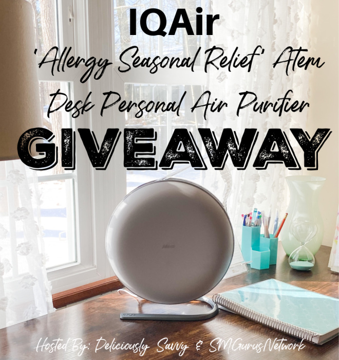 IQAir 'Allergy Seasonal Relief' Atem Desk Personal Air Purifier Giveaway ~ Ends 4/2 @IQAir @deliciouslysavv #MySillyLittleGang