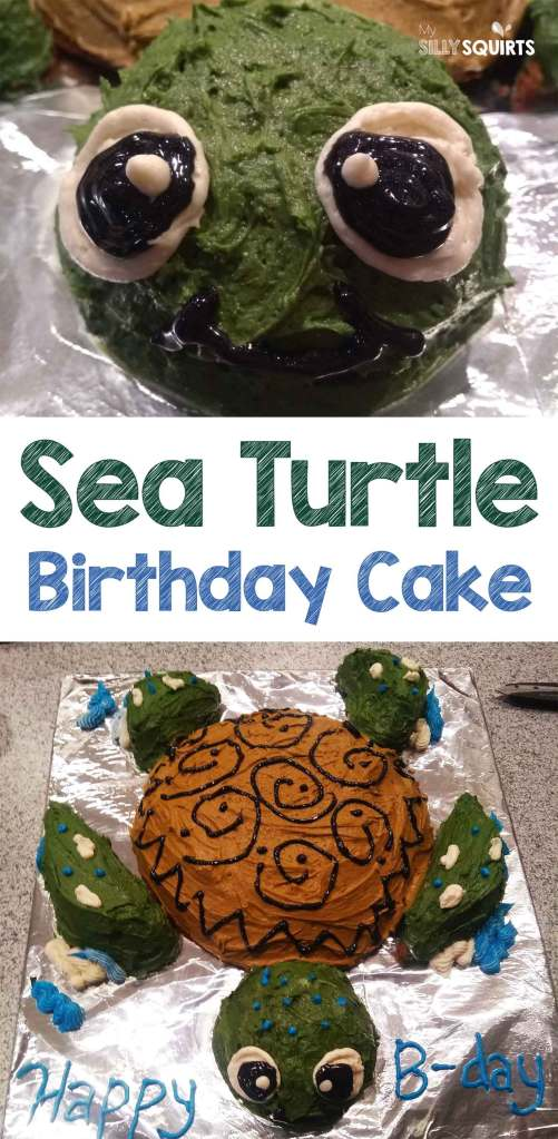 Wondrous How To Make Your Own Sea Turtle Birthday Cake My Silly Squirts Funny Birthday Cards Online Alyptdamsfinfo