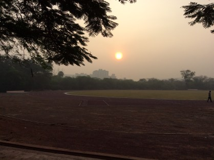 Sunset at IIT-M track field.
