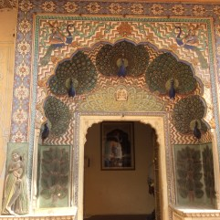 Peacock door - one of four doors depicting the four seasons at the Chand Mahal