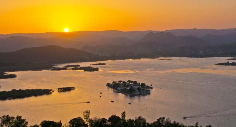 Sunset in Lake Pichola Udaipur