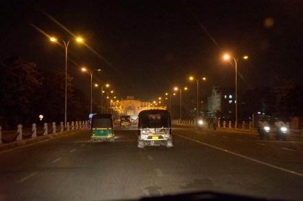 Jaipur by night on roads