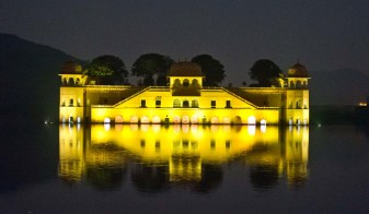 Jaipur by night Jal Mahal