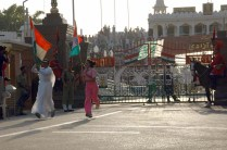 People participating at Attari wagah border ceremony