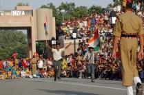 People participating at Attari wagah border ceremony