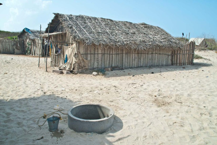 Dhanushkodi hut and sweet water