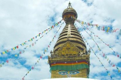 Top of Swyambhunath Temple Kathmandu Nepal