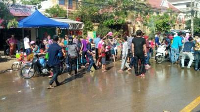 Cambodian people celebrating