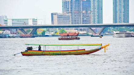 Boat in Chao Phraya river