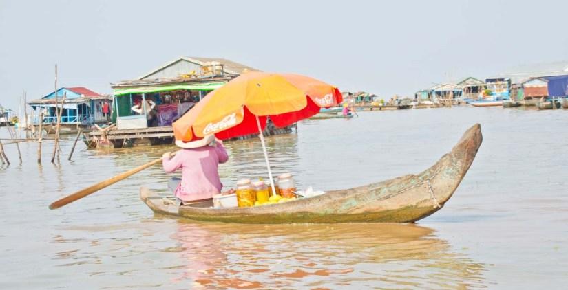 Siem Reap's floating villages lady