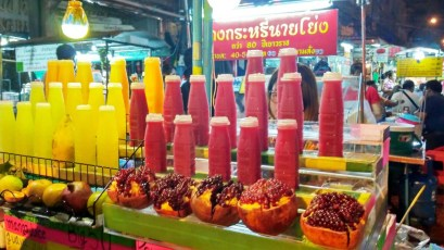 Fresh Juice stall in China Town Bangkok