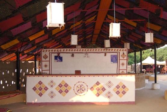 Reception Shaam-e-Sarhad Village Resort Kutch Gujarat