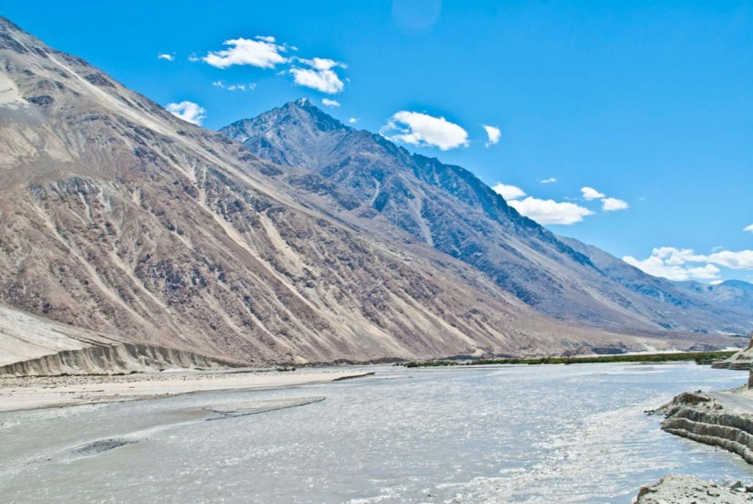 River on the way to Nubra Valley
