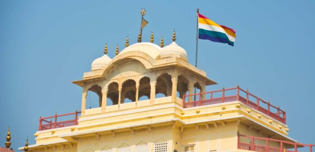 City palace Jaipur flag