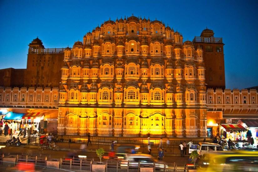 Hawa Mahal Jaipur at night