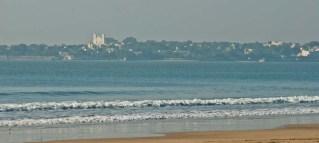 Diu town from Ghogla beach
