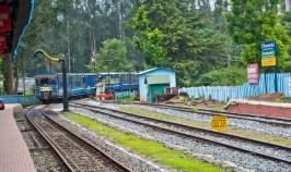 Nilgiri mountain railway entering Ooty station
