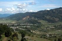On the way to world peace pagoda Pokara Nepal