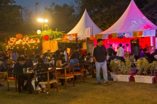 Palate fest at sitting area at night