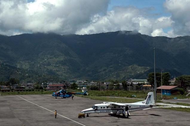 Pokara airport aeroplane