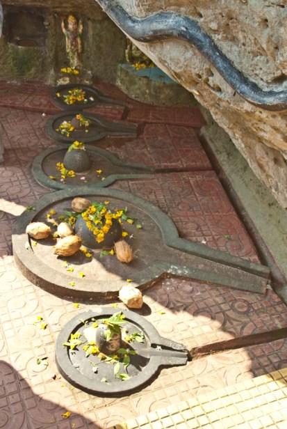 Shivalingams at Diu temple