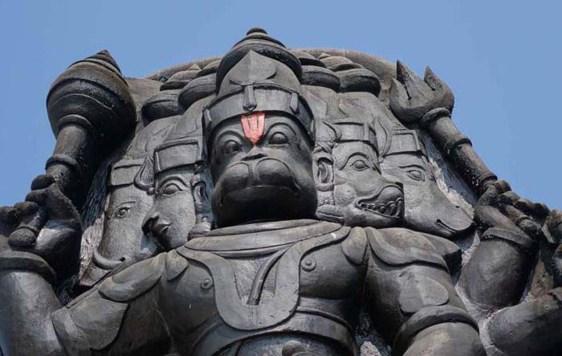 Panchmukhi Hanuman face Rameshwaram