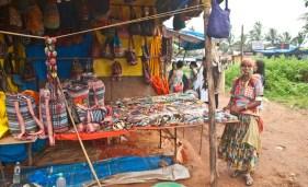 Anjuna Beach market Goa