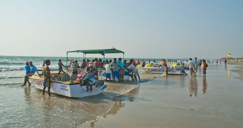 Boats at Colva beach Goa