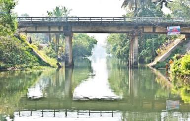 Bridge in Kerala Backwaters