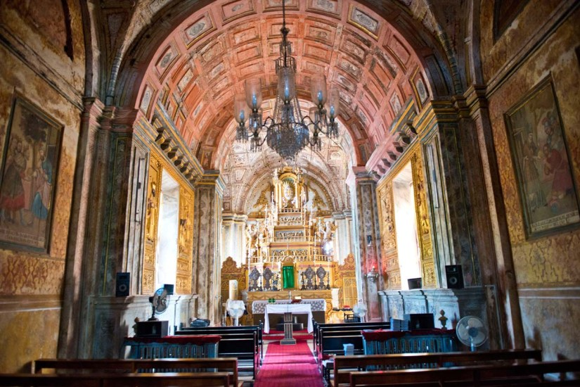 Inside of the Se cathedral Goa