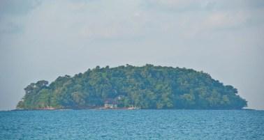 Island near Otres1 beach Sihanoukville Cambodia
