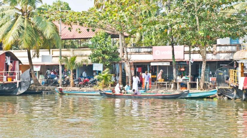 Small Boats in Kerala Backwaters