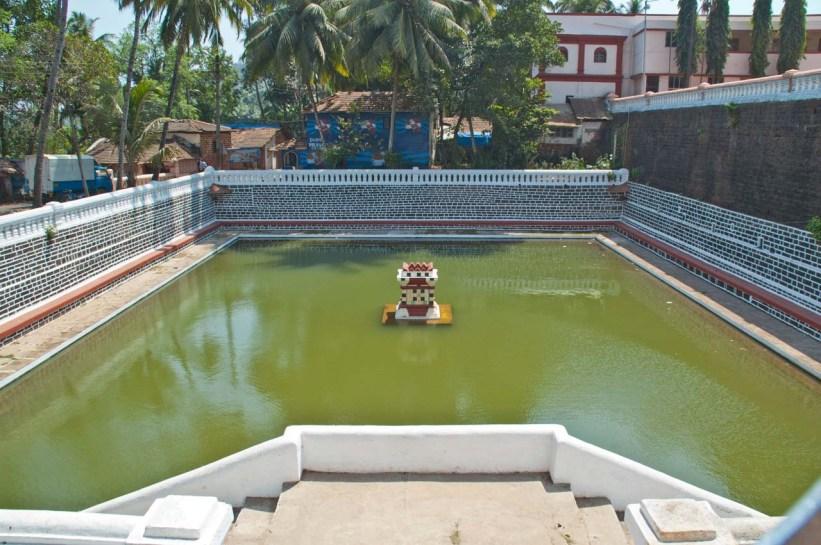Water Tank at Manguesh temple in Goa
