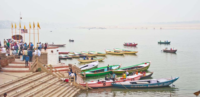 Boats at Ghats of Varanasi