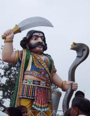 Statue of Mahishasura at Chamundi Hill Mysore