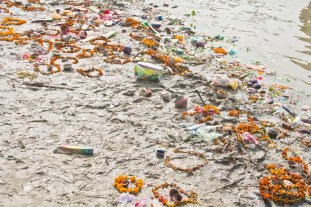 Garbage in Ganga River