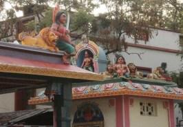 Vandiyur Mariamman Teppakulam Temple and Goddess temple across the road in Madurai