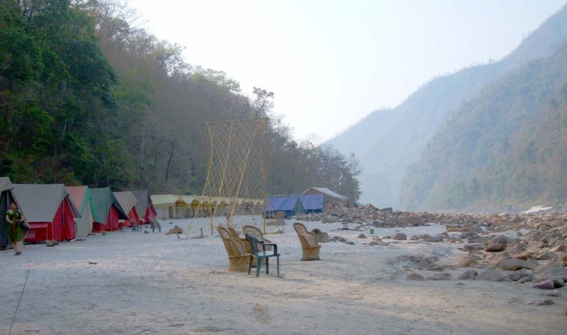 Camps on Banks of Ganga River in Shivpuri