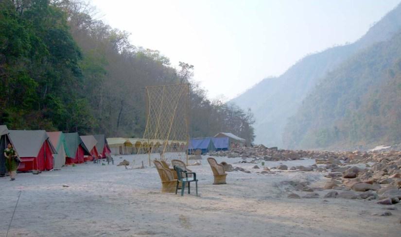 Camps on Banks of Ganga River in Shivpuri