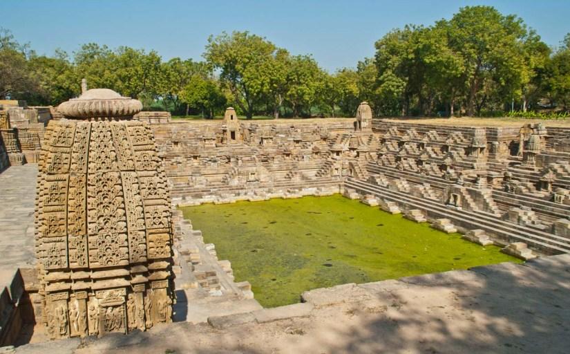 Modhera Sun Temple Tank and temple