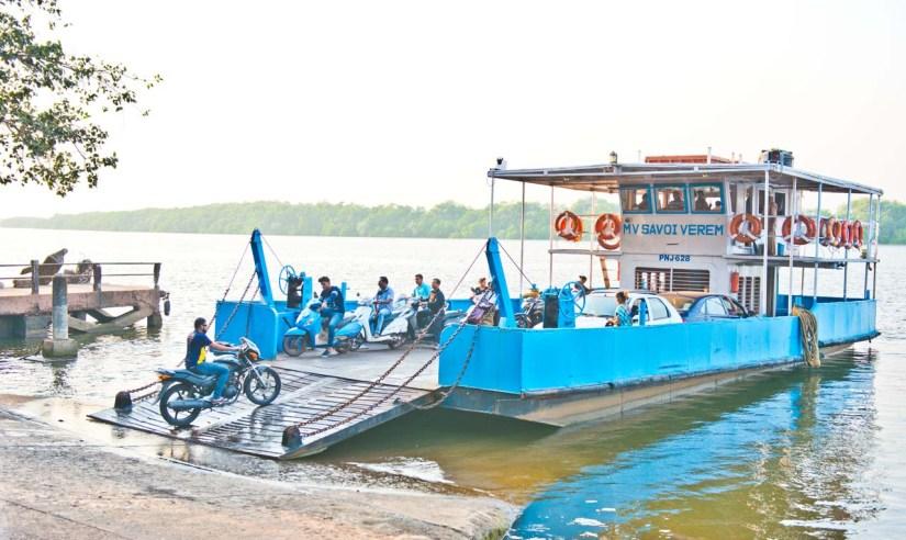 Ferry from Goa to Divar Island