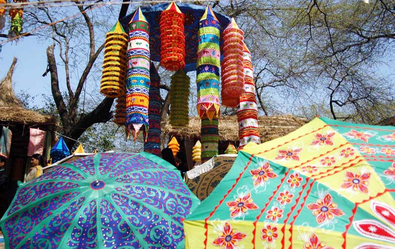 Fabric Umbrella and Fabric Chandelier