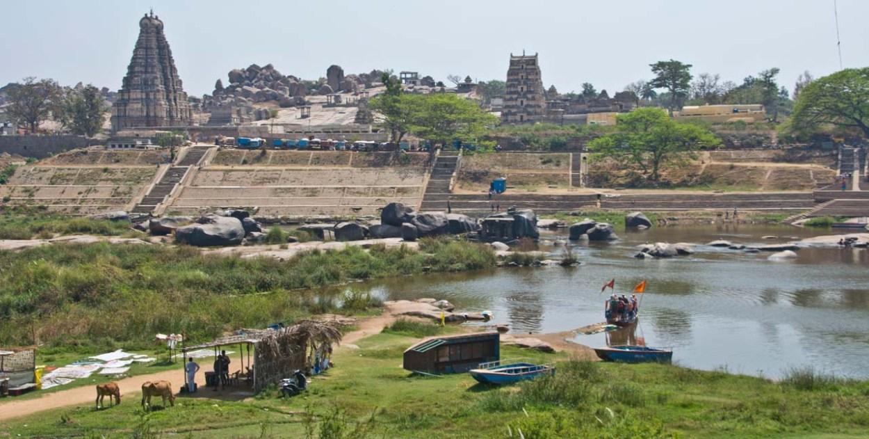 Hampi overview from Tungabhadra river