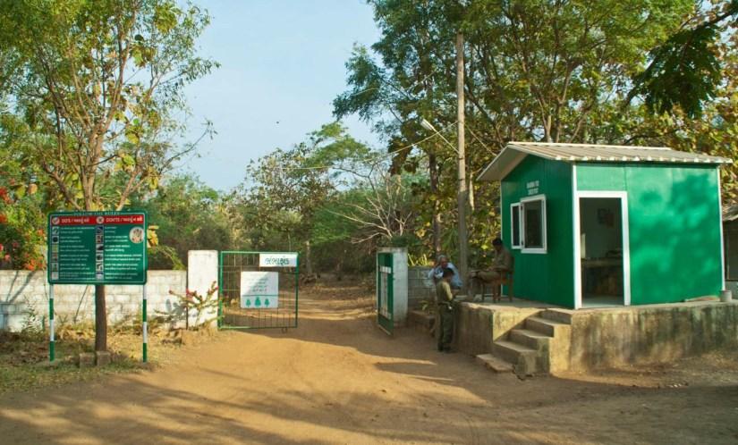 Entry gate to Gir national park