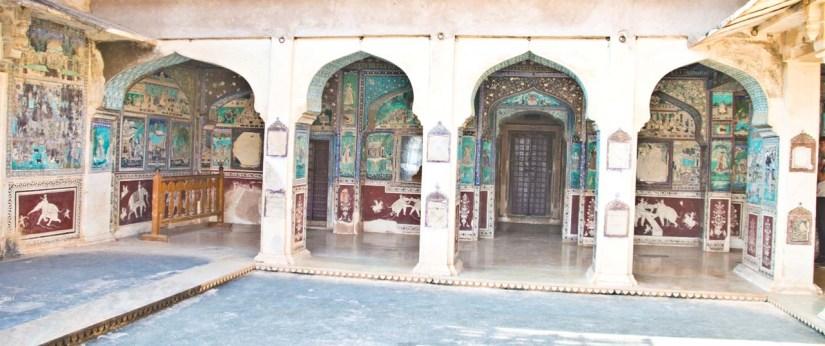 Paintings in Garh palace bundi rajasthan